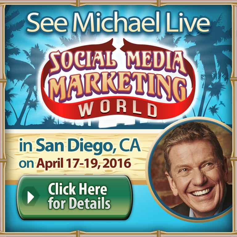 Social Media Marketing World - See Michael Live!