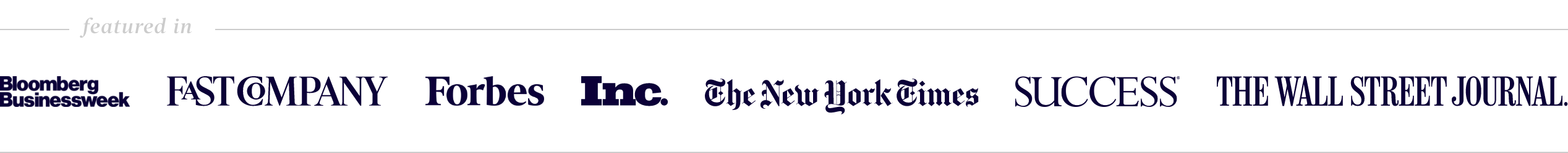 Featured in Forbes, New York Times, and more
