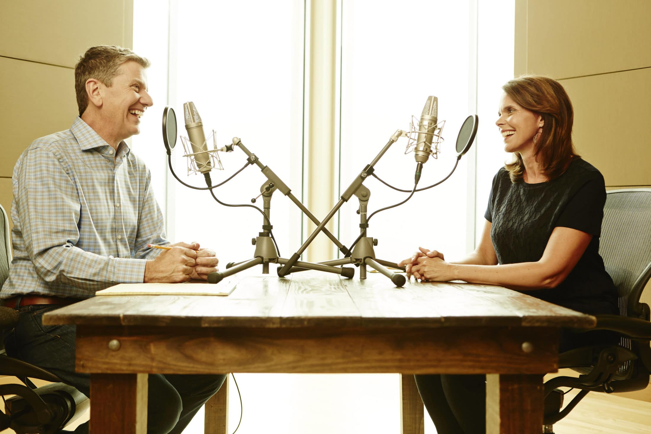 Michael Hyatt and Michele Cushatt Podcasting