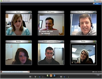 screen shot of ooVoo with six participants