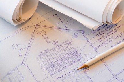 Blueprints for the remodeling of a house