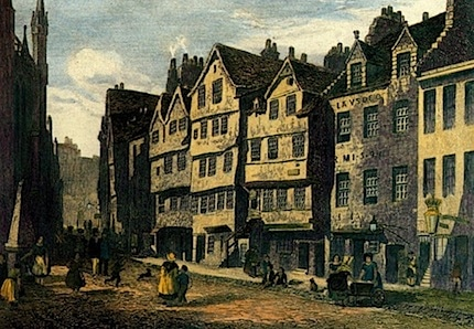 a painting of thomas nelson's castle hill location in edinburgh
