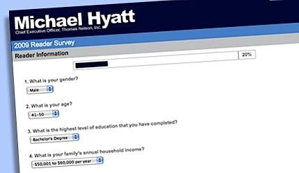 a screenshot of my 2009 reader survey