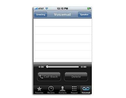 iPhone with no voice mail messages