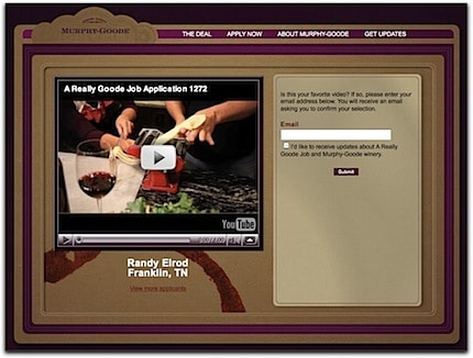 screen shot of randy's video web page