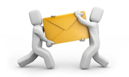 two men fighting over an envelope