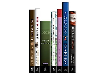 book spines with new logo treatment