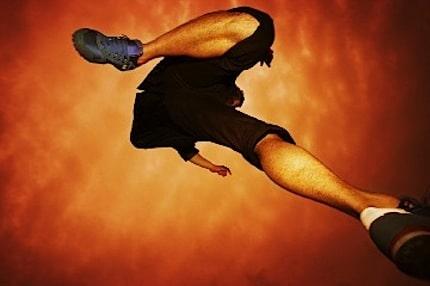 A Runner Jumping