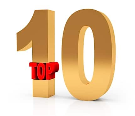 Top Ten Numbers