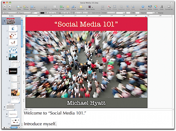 "My Keynote Presentation of ""Social Media 101"""