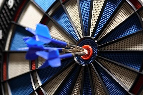 Dart in a Target Bullseye - Photo courtesy of ©iStockphoto.com/Mellimage, Image #3654703