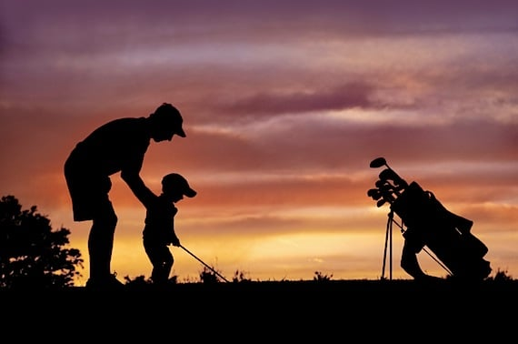 A Father Teaching His Son to Golf - Photo courtesy of ©iStockphoto.com/JLBarranco, Image #7322238