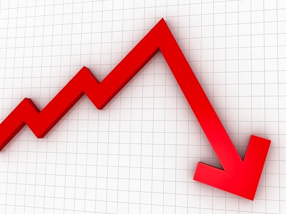 A Sales Graph Showing a Steep Decline in Results - Photo courtesy of ©iStockphoto.com/alexsl, Image #8777697