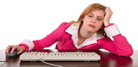 Woman Asleep at Her Computer - Photo courtesy of ©iStockphoto.com/bookwyrmm, Image #11268589