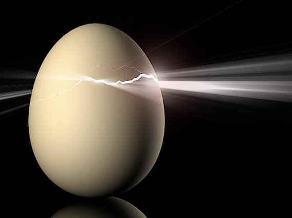 A Cracked Egg with Light Emerging from It - Photo courtesy of ©iStockphoto.com/mevans, Image #136484