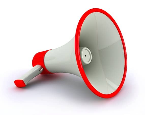 A Megaphone on a Flat Surface - Photo courtesy of ©iStockphoto.com/MagnusJohansson, Image #9049088