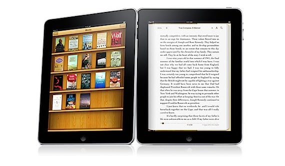 Photo of iPad with iBooks Application Running