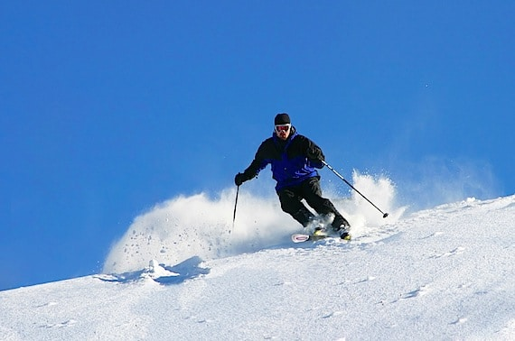 A Skier, Racing Downhill - Photo courtesy of ©iStockphoto.com/blende64, Image #152530