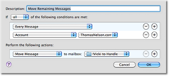 Email Rule: Move Remaining Messages