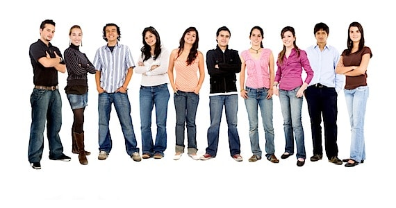 Group of Happy People in Jeans - Photo courtesy of ©iStockphoto.com/Andresr, Image #5563401