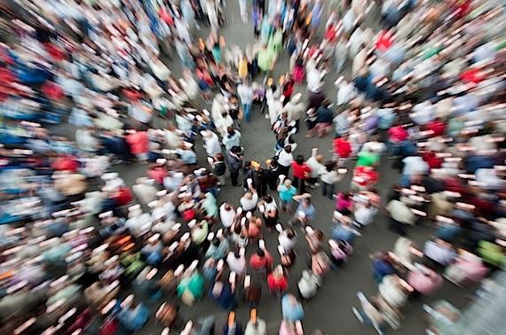 Aerial View of a Crowd - Photo courtesy of ©iStockphoto.com/Nikada, Image #10098861
