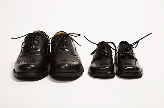 Two Different Size Pairs of Black Dress Shoes - Photo courtesy of ©iStockphoto.com/DeanProductions, Image #10139866