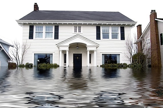 A House That Is Partially Under Water - Photo courtesy of ©iStockphoto.com/jhorrocks, Image #874059
