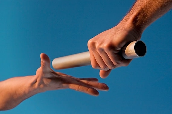 Close Up of a Baton Handoff in a Relay Race - Photo courtesy of ©iStockphoto.com/kycstudio, Image #7189948