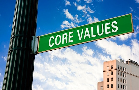 Core Values Street Sign - Photo courtesy of ©iStockphoto.com/cosmonaut, Image #12355697