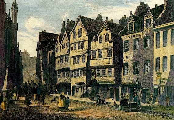 Painting of Thomas Nelson's Castle Hill Location in Edinburg, Scotland