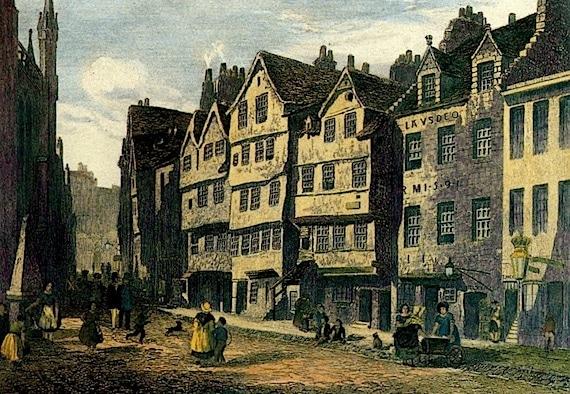Painting of Thomas Nelson's Castle Hill Location in Edinburg, Scotland