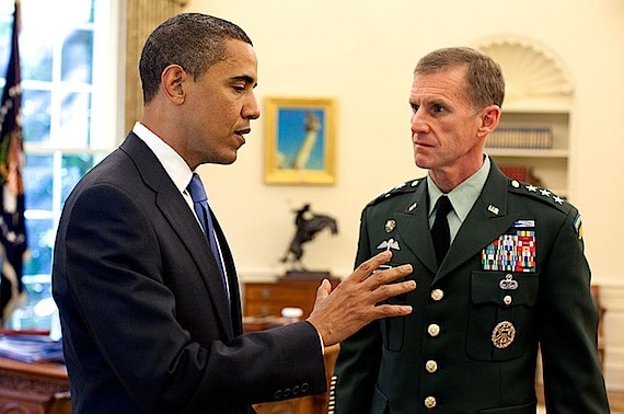 General McChrystal Meeting with President Obama