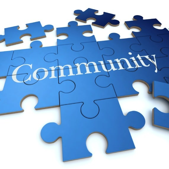 3D Rendering of a Puzzle, Spelling Out the Word Community - Photo courtesy of ©iStockphoto.com/Franck-Boston, Image #12580925