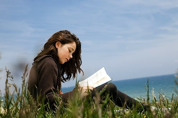 A Young Woman Reading Alone - Photo courtesy of ©iStockphoto.com/Maica, Image #12887821