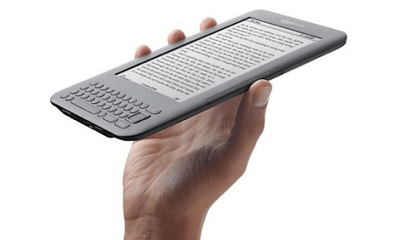 Amazon Kindle 3 in a Hand