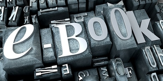 "3D Rendering of the Word ""eBook"" Using Conventional Type - Photo courtesy of ©iStockphoto.com/Franck-Boston, Image #12661284"