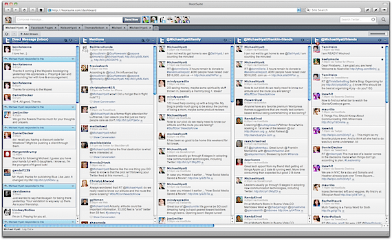 Screenshot of HootSuite