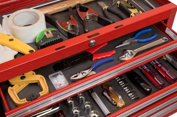 Tools in a Toolbox - Photo courtesy of ©iStockphoto.com/inhauscreative, Image #3815729