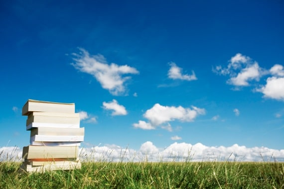 A Stack of Books Outside - Photo courtesy of ©iStockphoto.com/urbancow, Image #3906868