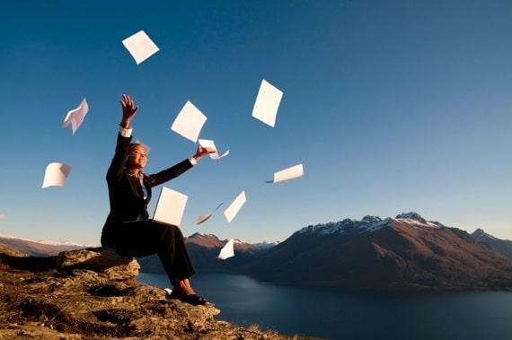 Businesswoman Celebrating Outdoors - Photo courtesy of ©iStockphoto.com/travelphotographer, Image #7146090