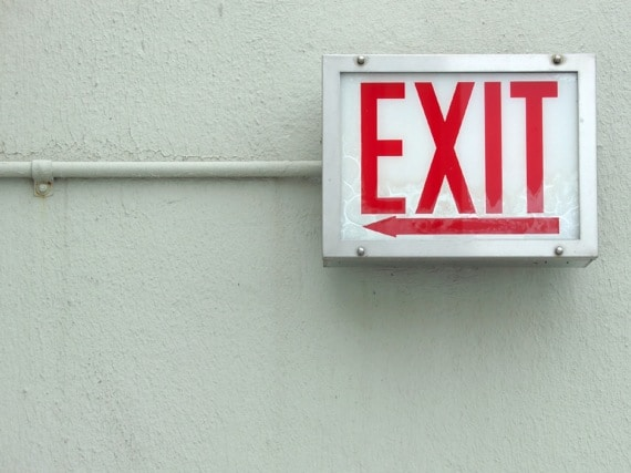 An Exit Sign - Photo courtesy of ©iStockphoto.com/savoia, Image #4337554