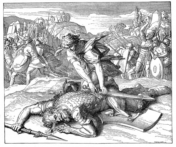 """""""David Slaying Goliath"""" from the"""