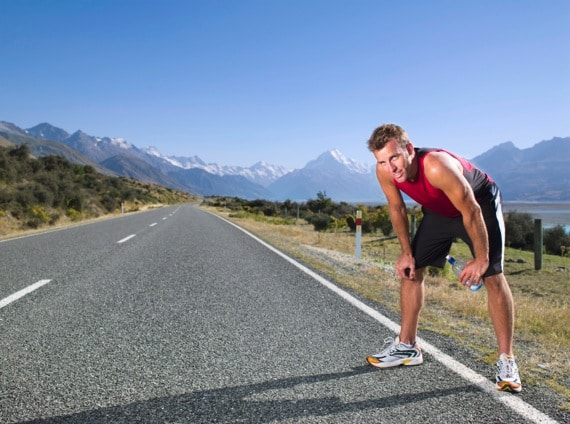 A Runner Taking a Break in the Middle of a Run - Photo courtesy of ©iStockphoto.com/Photo_Concepts, Image #14620272