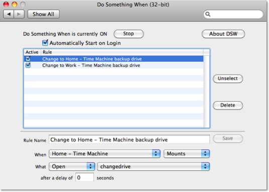 Screenshot of Do Something When Setup