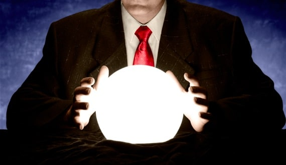 A Businessman Trying to Read a Crystal Ball - Photo courtesy of ©iStockphoto.com/VallarieE, Image #12041842