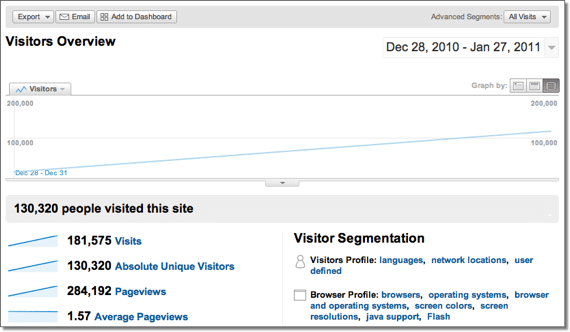 My January 2011 Google Analytic Stats