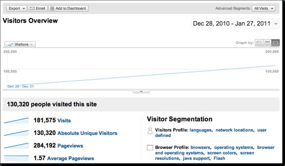 My January 2011 Google Analytic Stats