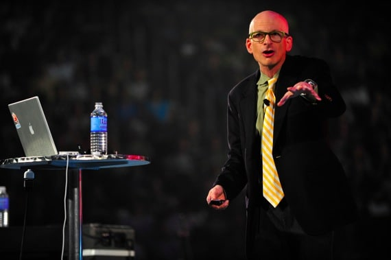 Seth Godin Speaking in Front of a Live Audience