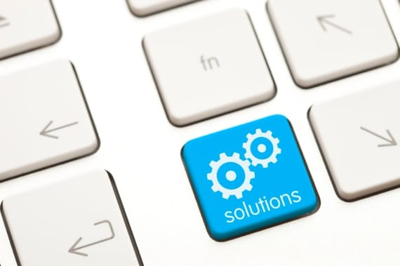 Solutions Key in the Middle of a Computer Keyboard - Photo courtesy of ©iStockphoto.com/rubenhi, Image #14255777