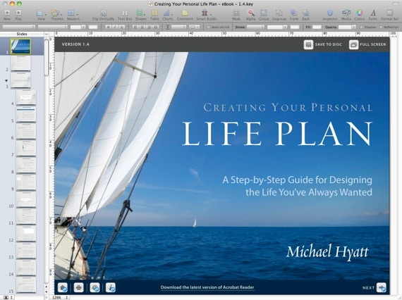 Creating Your Personal Life Plan in Keynote